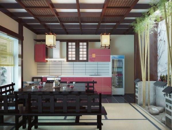 Японский дизайн кухни фото