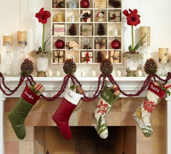 Как сшить и украсить рождественский носок