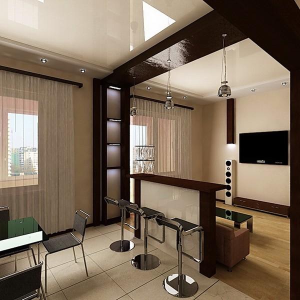 Дизайн обоев в зал в хрущевке фото