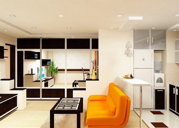 Совмещение кухни и гостиной планировка