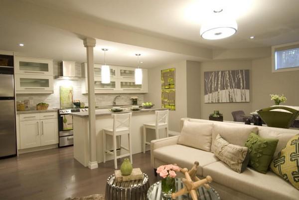 Дизайн гостиной и кухни совмещенной фото