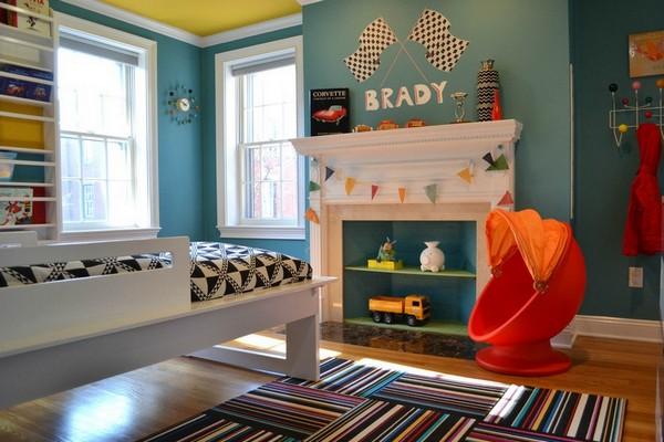 Фальшкамин в интерьере детской комнаты фото