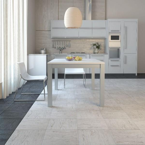 Укладка керамогранита на пол в кухне
