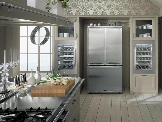 Встроенный холодильник для малогабаритной кухни