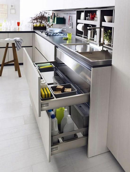 Идеи хранения для малогабаритной кухни фото