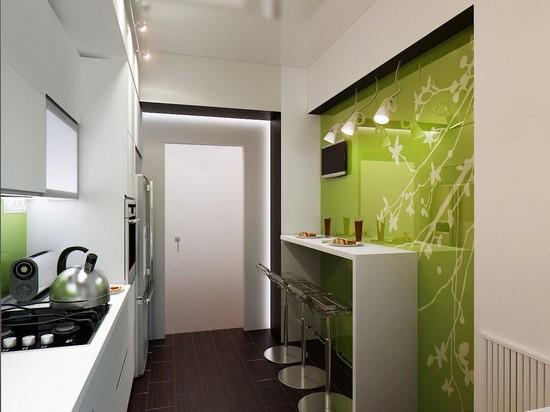 Освещение малогабаритных кухонь фото