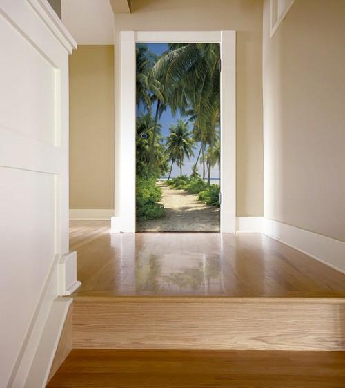 Фотообои на дверь в коридор