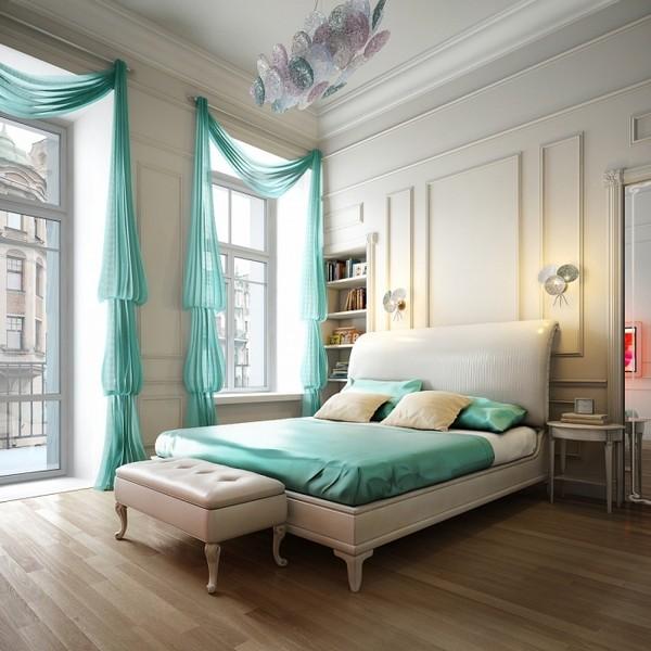 Роскошное шелковое покрывало на кровать в тон шторам