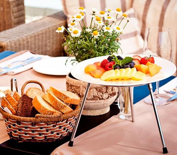 Красивая сервировка стола к завтраку фото