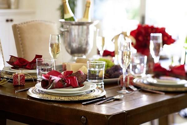 Новогодняя сервировка стола к завтраку