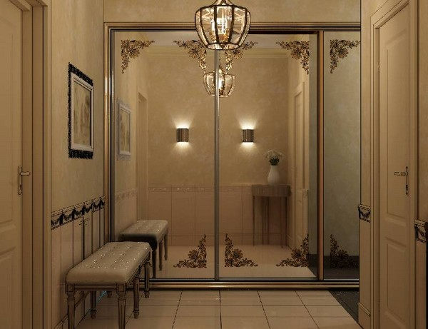 фото отделка коридора панелями мдф