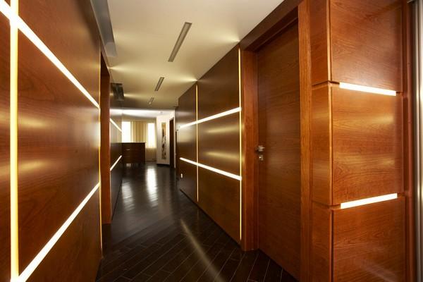 Стеновые панели деревянные для коридора