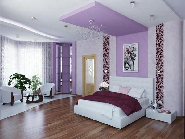 акцентная стена за изголовьем кровати