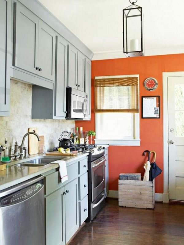 акцентная стена на кухне фото