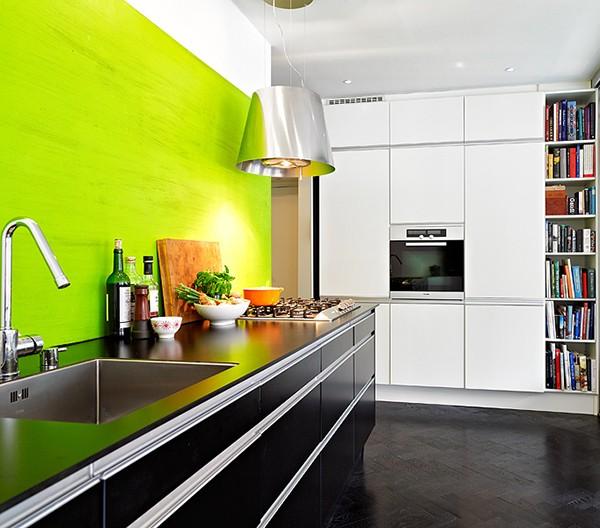 акцент на стене на кухне