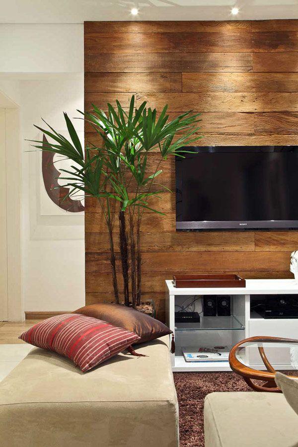 Акцент на стене с телевизором фото