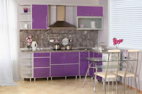 сиреневая кухня фото