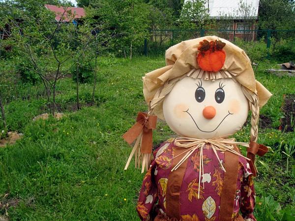 Как сделать пугало на огород с головой