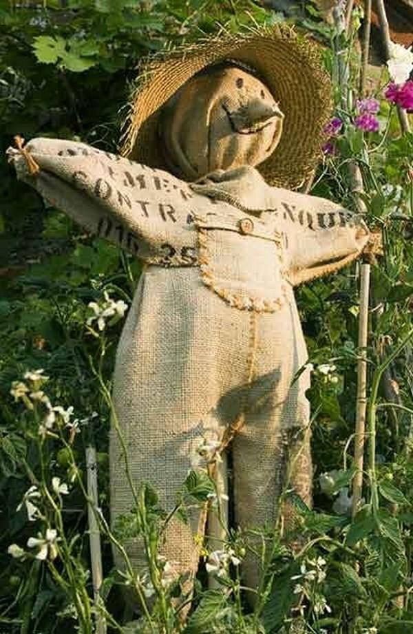 огородное пугало своими руками фото
