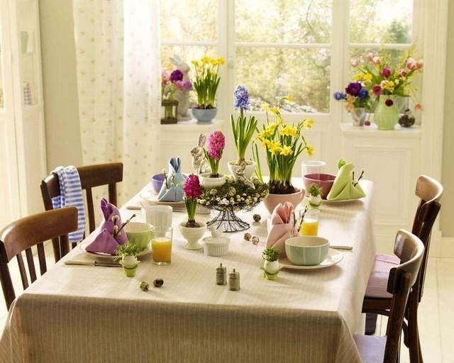 Красивый пасхальный стол фото