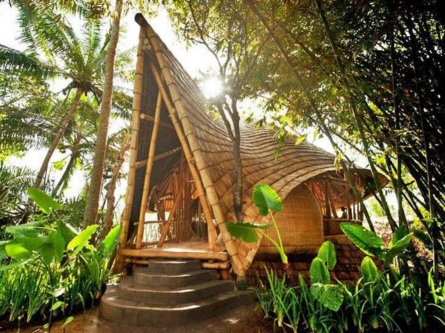 Дизайн домов из бамбука