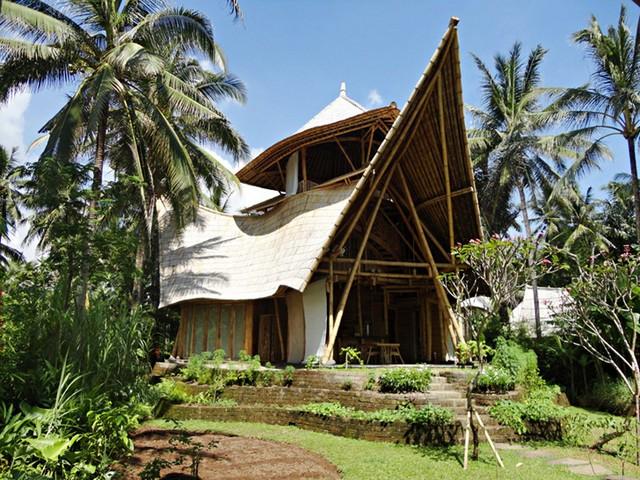 Бамбуковые дома фото