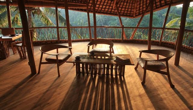 Дизайн интерьера бамбукового дома