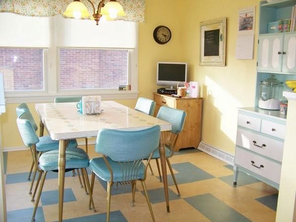 Цветовое оформление мебели для кухни в стиле бистро
