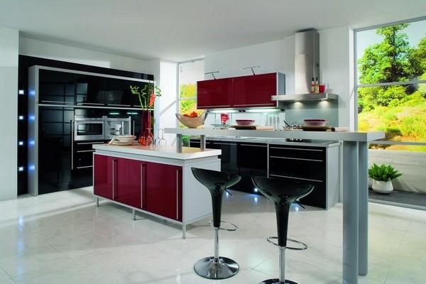 Современный интерьер кухни в стиле бистро