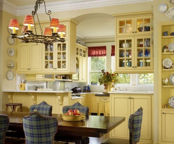 Уютная кухня в стиле бистро