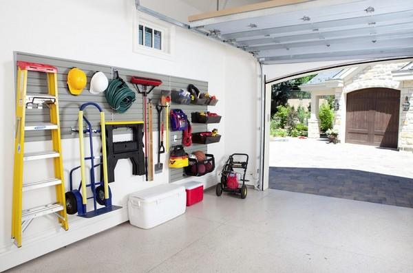 обустройство гаража внутри фото