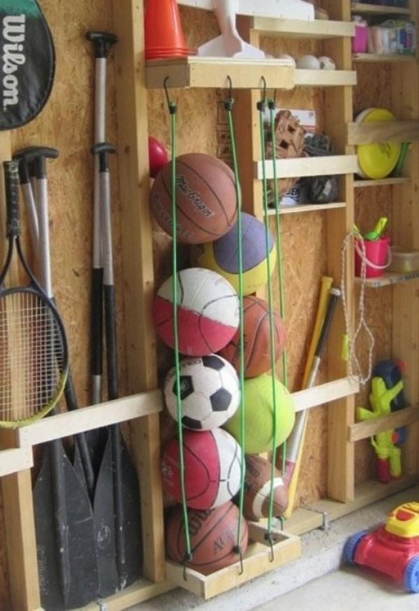 Деревянные полки для гаража фото