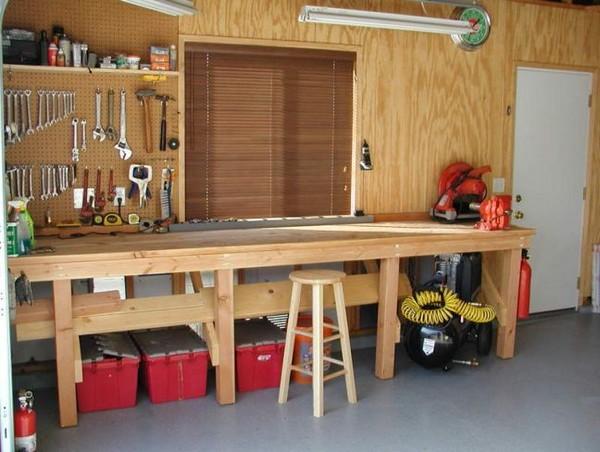 Мастерская в гараже фото