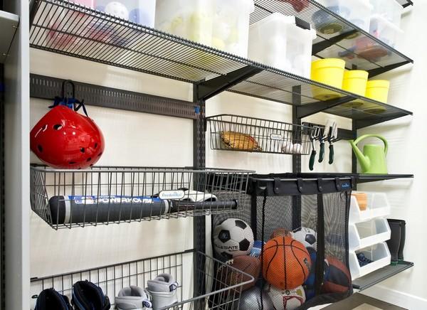 Металлические стеллажи для гаража фото