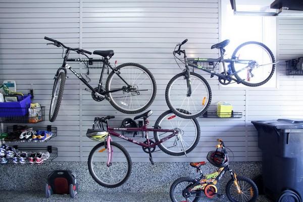 Как хранить велосипед в гараже