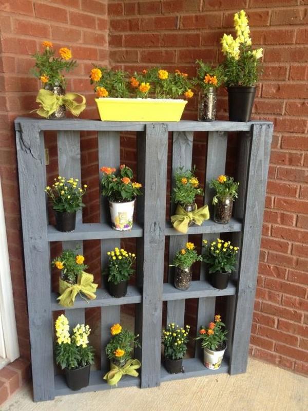 Этажерка для цветов из поддонов