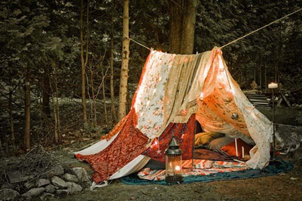 Простой самодельный шалаш-палатка