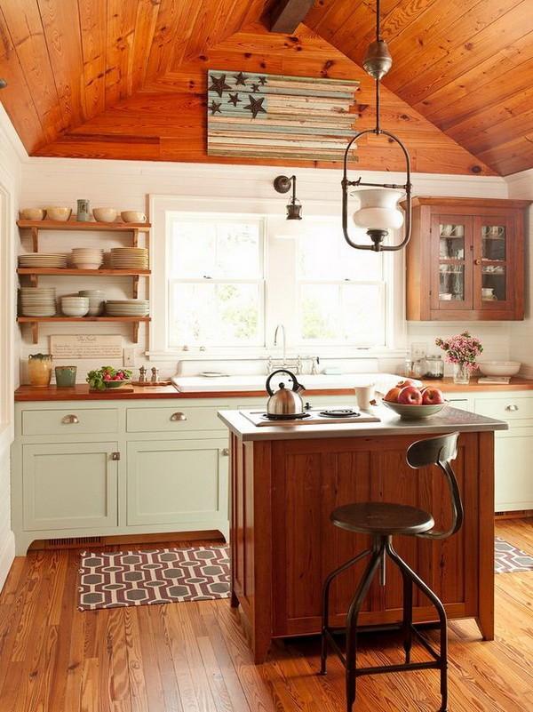 кухонные островки и столики на колесах