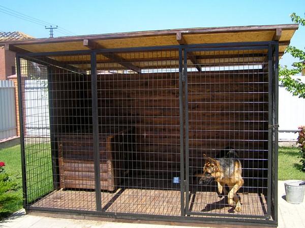 Фото вольера для собаки своими руками