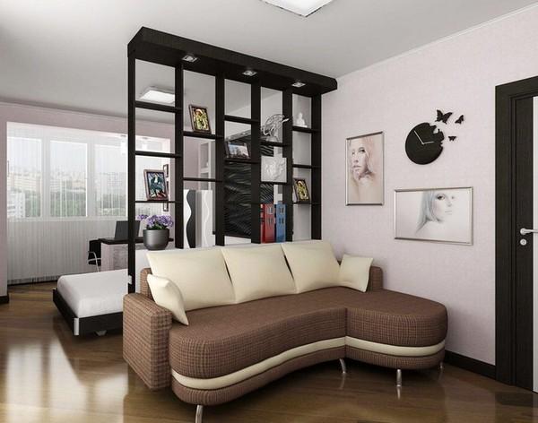 Oblikujte enosobni hruščov z dvema oknoma v sobi