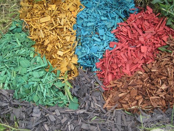 Древесная щепа цветная декоративная