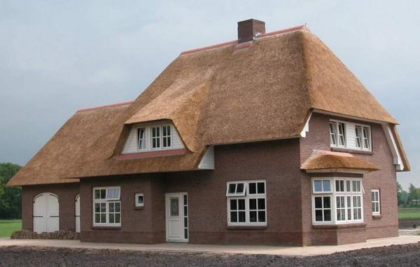 дом с камышовой крышей