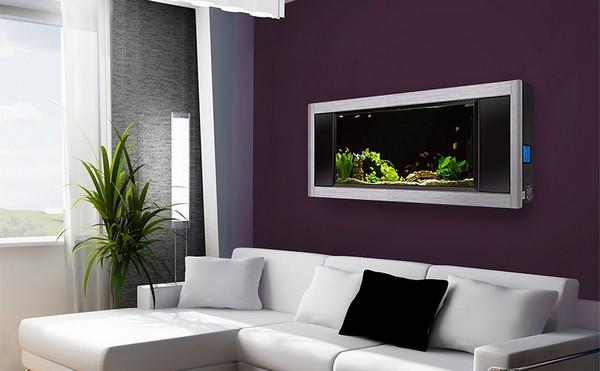 Плоский аквариум на стену