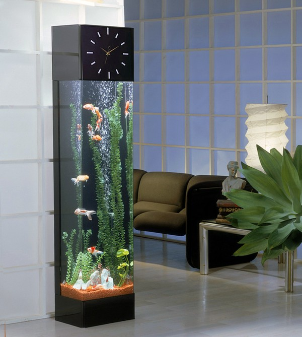 Аквариум-часы к стене