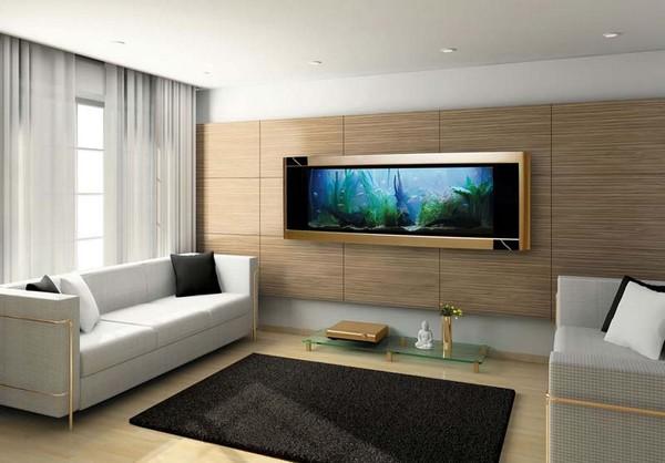 Плоский аквариум на стену фото