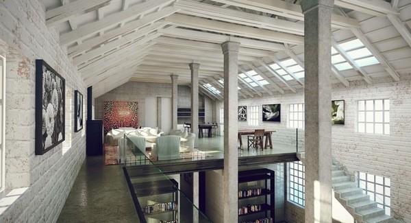 Двухэтажный дом в стиле индастриал фото