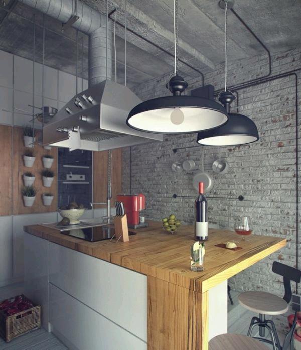 Кухня в индустриальном стиле фото