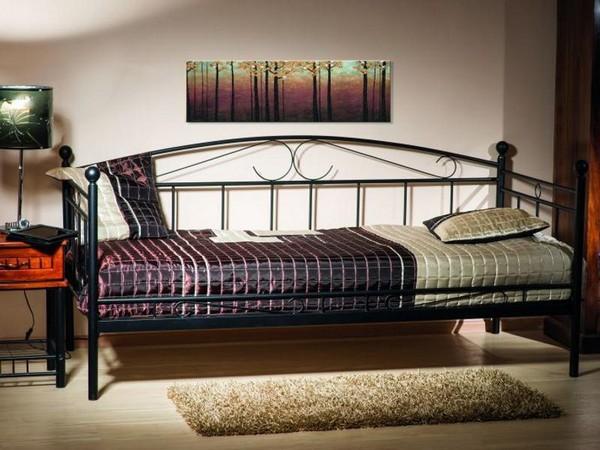 Кровать-кушетка металлическая односпальная