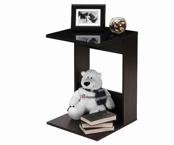 Приставной столик со стеклянной столешницей