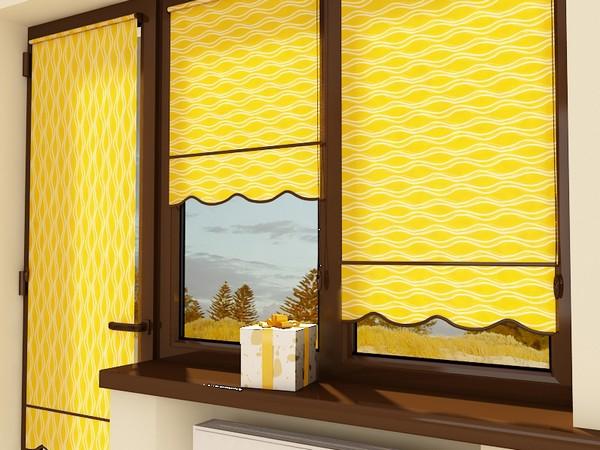Рулонные балконные шторы